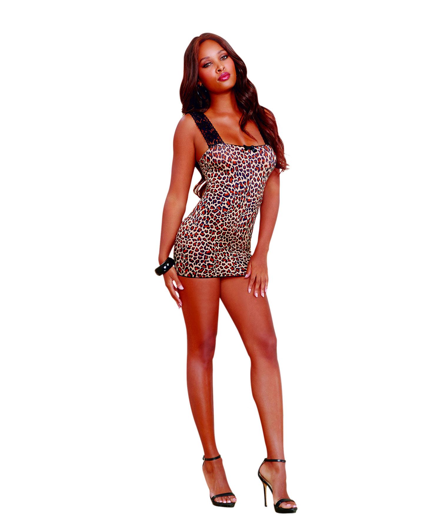 Dolce & Gabbana - Leopard print stretch satin camisole top